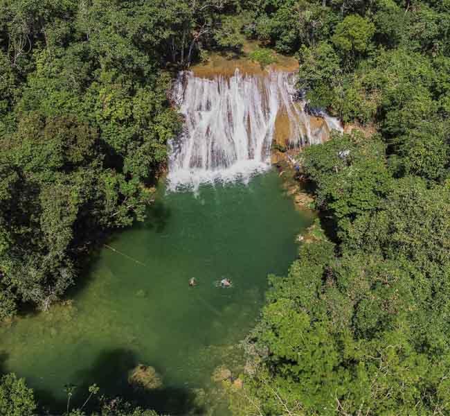 Cachoeiras Serra da Bodoquena - Vista aérea Bonito MS Bonito Incomparável Foto Fernando Peres