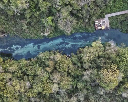 Refúgio da Barra - Belíssimo contraste do Rio Formoso com as matas Bonito MS Bonito Incomparável