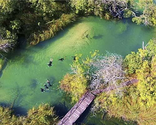 Bonito Aventura - Canal da Lontra flutuando Rio Formoso Bonito MS Bonito Incomparável