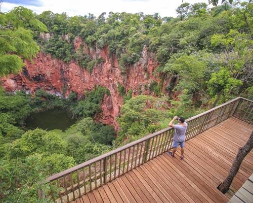 Buraco das Araras – Mirante panorâmico no Buraco das Araras Bonito MS Brasil Bonito Incomparável