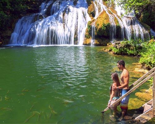 Cachoeiras Serra da Bodoquena -Cachoeira da gruta Bonito MS BonitoIncomparável