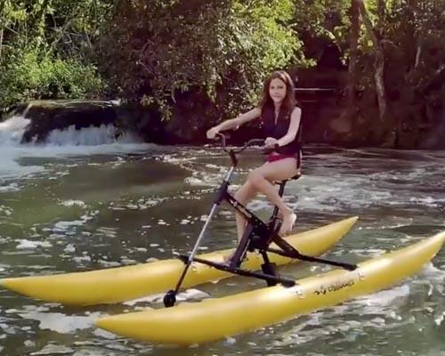 Eco Park Porto da Ilha - Bike Boat (captada de vídeo, qualidade ruim)