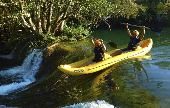Eco Park Porto da Ilha - Caiaque Duck na corredeira Bonito MS Bonito Incomparável