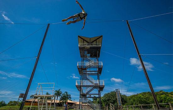 Nascente Azul - Adventure da Nascente Azul Pêndulo Humano Quick Jump Bonito MS Brasil Bonito Incomparável