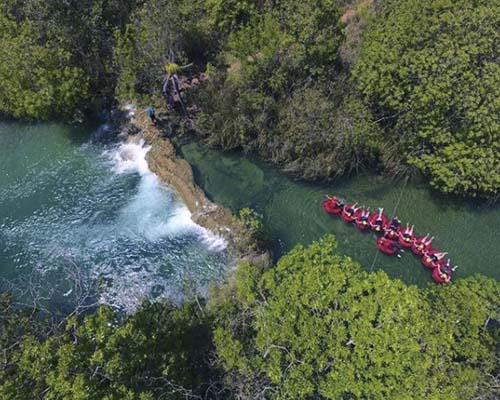 Parque Ecológico Rio Formoso - Vista aérea Boia Cross - Bonito MS Bonito Incomparável