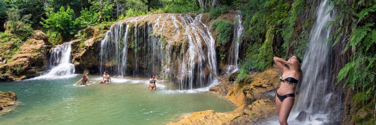 Passeio Estância Mimosa - Cachoeira do desejo no Rio Mimoso Bonito MS